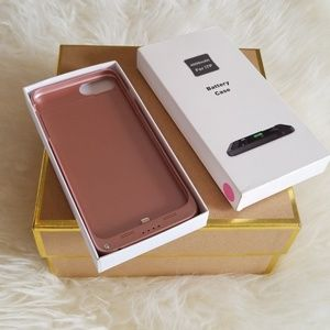 Accessories - Rose gold iPhone 7 plus battery case